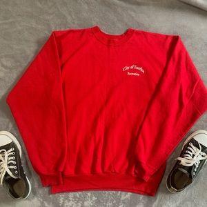 Small Red Cozy Crewneck Sweatshirt